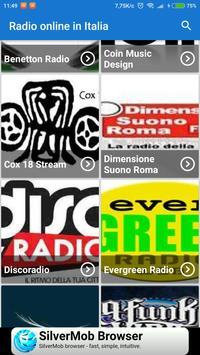 Radio online Italia apk screenshot
