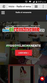Radio el remanente online poster