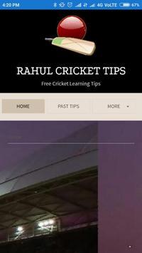 Rahul Cricket Tips poster