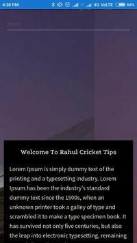 Rahul Cricket Tips apk screenshot