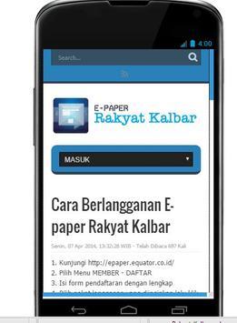 Rakyat Kalbar E-Paper apk screenshot