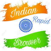 Indian Rapid Browser:Live tv & video downloder icon