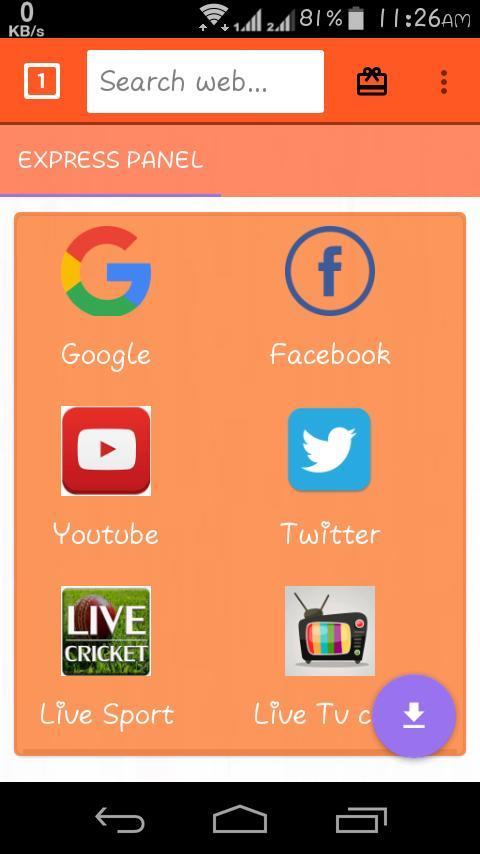 Indian Rapid Browser:Live tv & video downloder poster