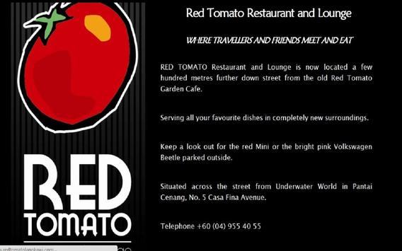 Red Tomato Restaurant Langkawi poster