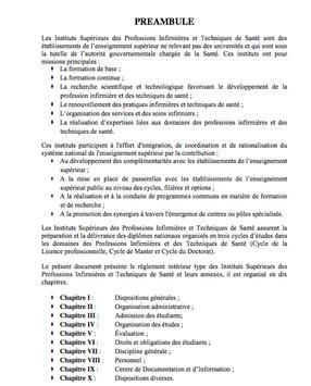 Règlement Intérieur ISPITS poster