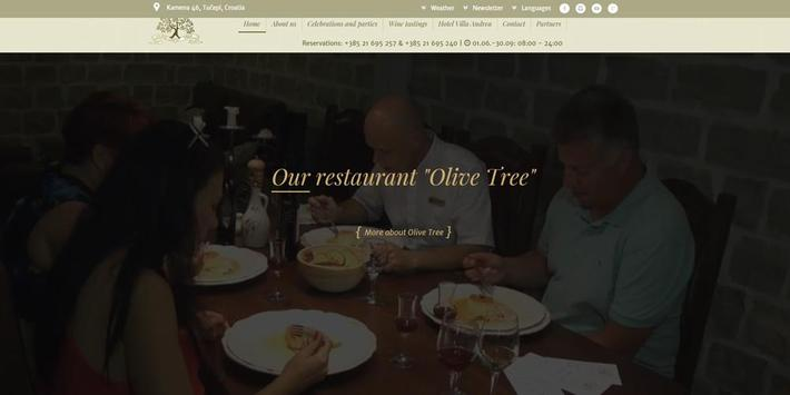 Restaurant Olive Tree - Tučepi poster