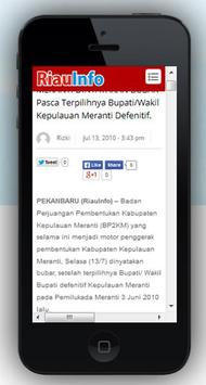 Riau Info apk screenshot