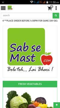 SabseMast - Online Vegetables apk screenshot