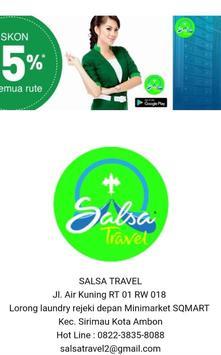 SALSA TOUR TRAVEL poster