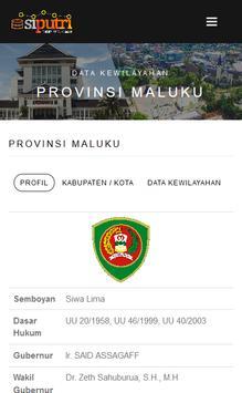 PUTRI Pemerintahan Maluku screenshot 1