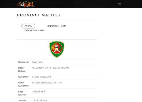 PUTRI Pemerintahan Maluku screenshot 4
