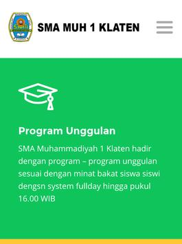 SMA Muh 1 Klaten poster