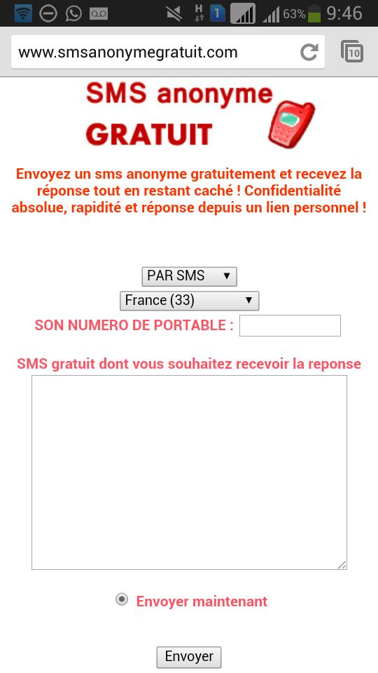 SMS Anonyme gratuit for Android - APK Download