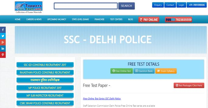 SSC Delhi Police SI Assistant SI Free Test Series poster
