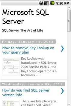 SQL Server Tips apk screenshot