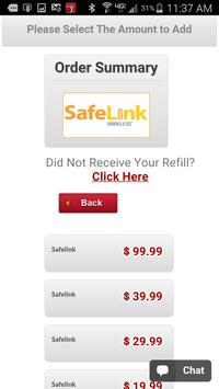 Safelink Instant Refills apk screenshot