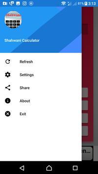 Shahwani Calculator apk screenshot