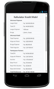 Simulasi Kredit Mobil screenshot 1