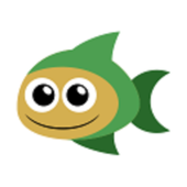 Simple fishing for kids icon