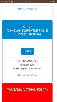 Sistem Informasi Penerimaan Anggota Polri screenshot 3