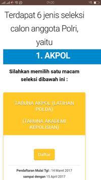 Sistem Informasi Penerimaan Anggota Polri screenshot 1