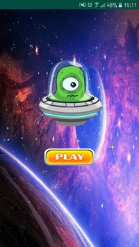 Space alien flappy poster