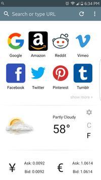 Speedy Browser apk screenshot