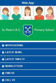 St Peters RC Primary web app poster