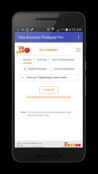 Tata Docomo Postpaid Bill & Recharge poster