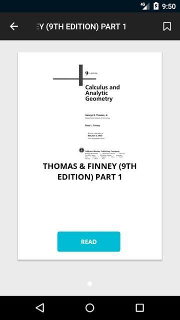 THOMAS & FINNEY - BEST CALCULUS BOOK for Android - APK Download