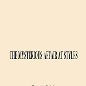 THE MYSTERIOUS AFFAIR AT STYLE icon