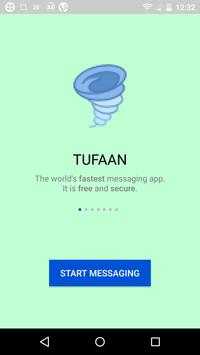 TUFAAN-fast and secure messaging app poster