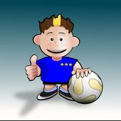 Teaching soccer to kids icon