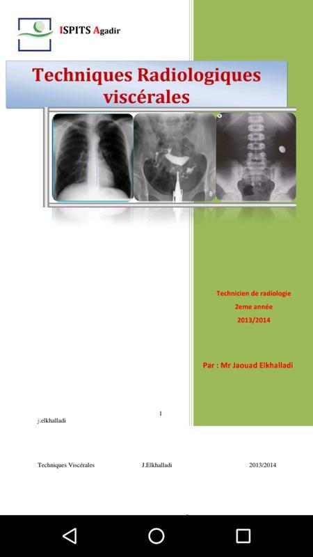 Radiologie Cours für Android - APK herunterladen