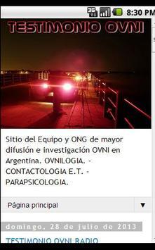Testimonio Ovni apk screenshot