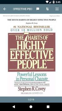 The 7 Habits of Highly Effective People poster