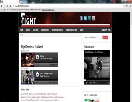 TheTitleFight.com poster