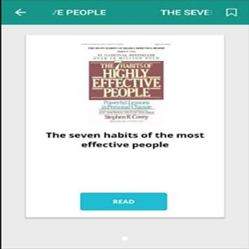 The seven habits of the most effective people poster