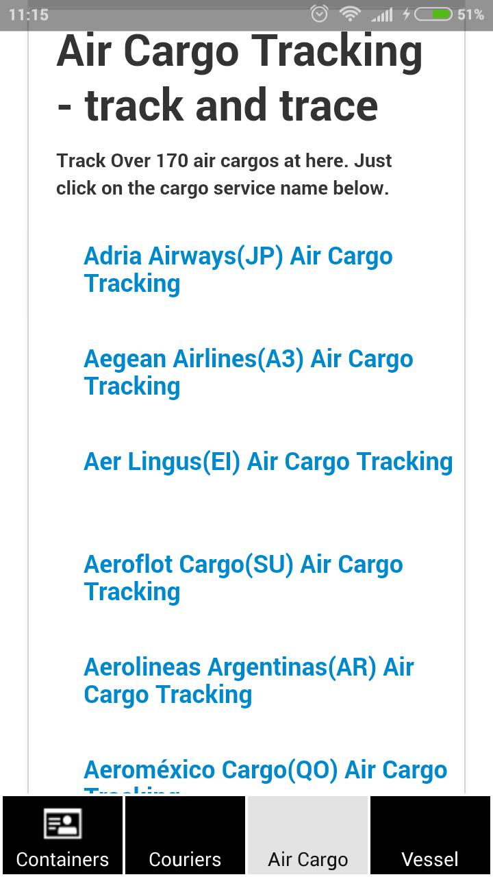 Containers & Couriers Tracking for Android - APK Download