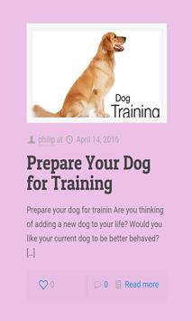 DOG TRAINING apk screenshot