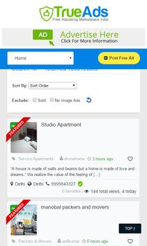 TrueAds Free Local Classifieds apk screenshot