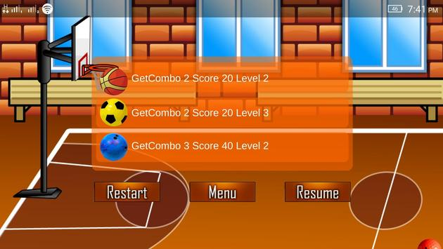 True Basket Ball mobile apk screenshot
