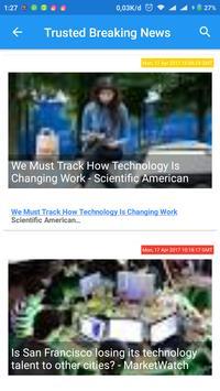 Trusted Breaking News apk screenshot