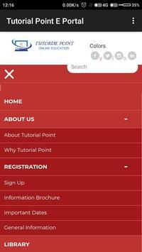 Tutorial Point E-Portal poster