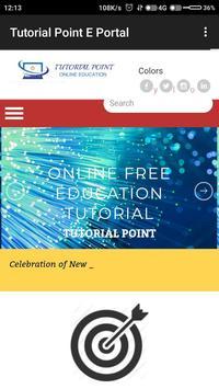 Tutorial Point E-Portal screenshot 1