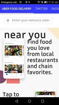 UBER FOOD DELIVERY screenshot 1