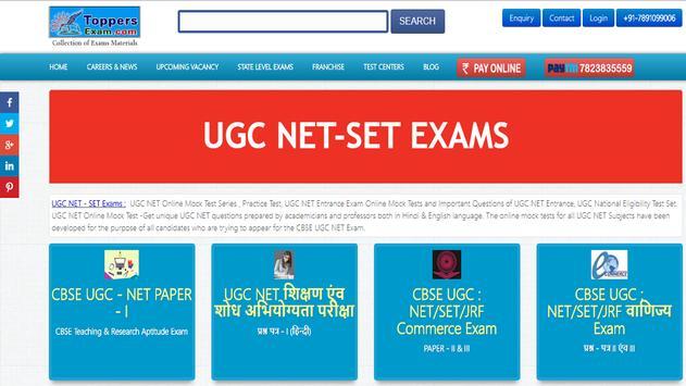 UGC NET Free Online Mock Test Series App poster