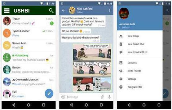 Ushbi Messenger apk screenshot