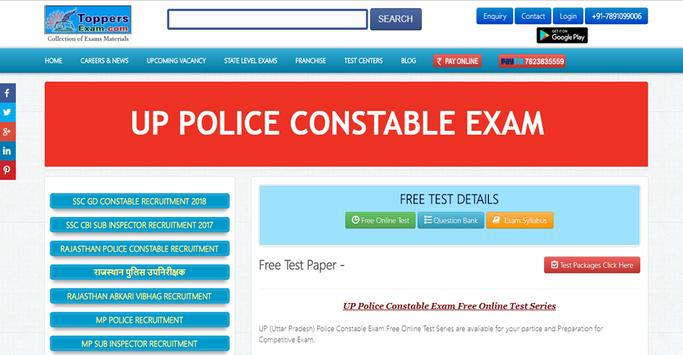 UP POLICE CONSTABLE EXAM poster