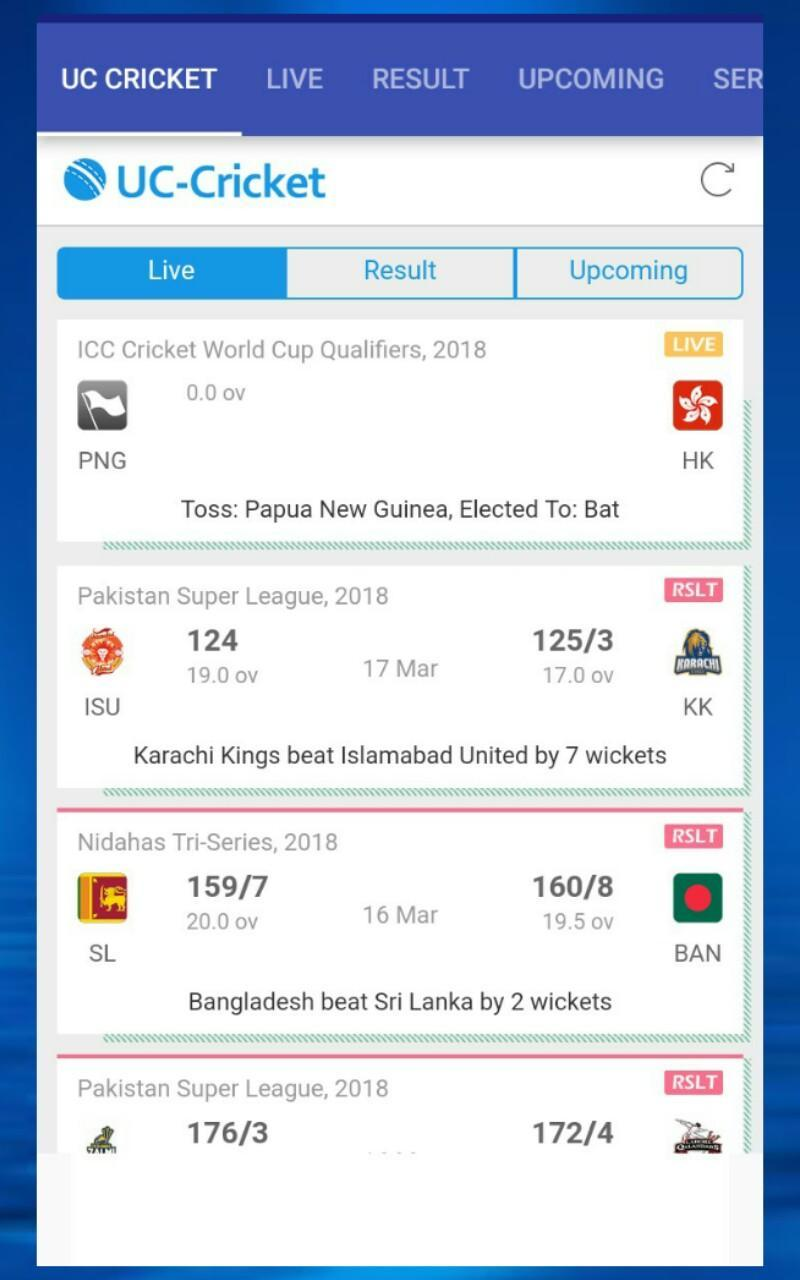 UC Cricket Live Scores for Android - APK Download